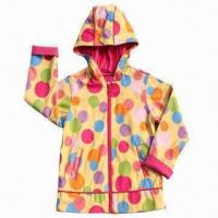 Quality Children's PU Raincoat with 100% Polyester Lining wholesale