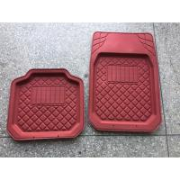 Quality PVC cheap price black grey beige red standard size car foot mat for all car use wholesale