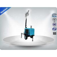 Cheap Contruction Emergency Portable 6-7kw 50Hz Mobile Light Tower , Trailer Mounted for sale