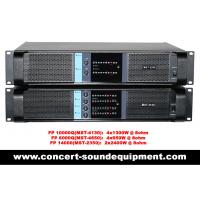 Quality Line Array Sound System , FP 10000Q 4 Channel Switch Mode Amplifier 4x1300W wholesale
