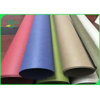 China Fiber Pulp Tear Resistance Red & Blue Washable Kraft Paper Fabric For Wallets on sale