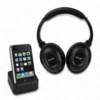 Quality Wireless Headphones for iPod, with Docking Transmitter and Auto-running Function wholesale