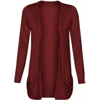 Quality Loose Fit Shrug Solid Color Womens Long Cardigans With Drap Pocket Custom Size wholesale