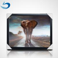 Cheap 50*70cm 3d Lenticular Poster Animal Theme 3D Flip Effect With MDF Frame for sale
