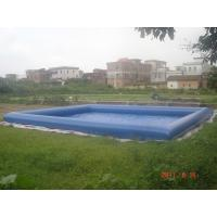 Quality Giant Inflatable Water Pool With CE Air Pump For Rental Business wholesale
