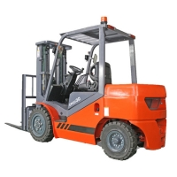 China 3 ton capacity diesel engine forklift truck CPCD30 with closed cabin with air condition ISUZU Mitsubishi engine optional on sale