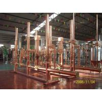 Quality Pub Hotel Micro Beer Brewing Equipment 500l Red Copper Brew Kettle Steam Heating wholesale