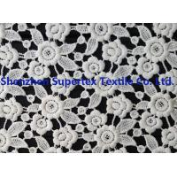 Quality White Polyester Children'S Clothing Fabric Water Soluble Embroidery Lace for Dresses or Decoration wholesale