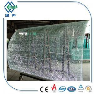 Quality Decorative Laminated Cracked Ice Glass Panels UV / heat / sound insulation for building wholesale