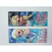 Quality 3D Hologram Frozen 3D Lenticular Custom Plastic Bookmarks With Tassel For 0.6 mm PET Thickness wholesale