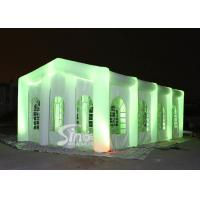 China 12x6m big blow up inflatable wedding party tent with LED light, movable doors N windows on sale