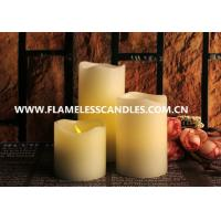 Quality Ivory Wax Unscented Amber Flameless Flickering LED Votive Candles for Interior Decoration wholesale