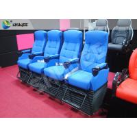 Quality Blue 4 Seats 1 Sets 4D Home Cinema Equipment With Foot Support wholesale