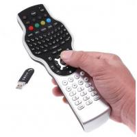 China windows media player remote control with 2.4G RF mini keyboard Jogball mouse and IR learning on sale