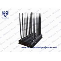 Quality 16 Antennas Mobile Phone Signal Jammer 3G 4GLTE / Wimax Phone Blocker wholesale