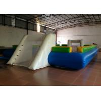 Quality Waterproof PVC fabric Inflatable football Soccer Field Big Party Inflatable Soccer pitch for ball game wholesale