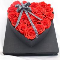 Quality Heart Shaped Fresh Preserved Rose Gift Box For Wedding Decoration wholesale