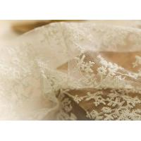 Quality Delicate 130CM Floral Embroidered Nylon Lace Fabric For Underwear Nightwear wholesale