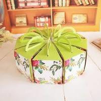 Quality Recycled Round Decorated Cake Boxes Unique Pretty Personalized UV Coating Printing wholesale