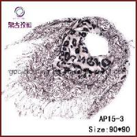 Quality Lady Fashion Leopard Acrylic Square Scarf (AP15-3) wholesale
