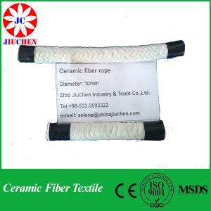 Quality China insulation ceramic fiber round braided rope(stainless steel) wholesale
