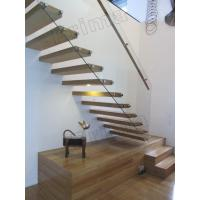 Quality stainless steel handrails wood staircase floating stairs wholesale
