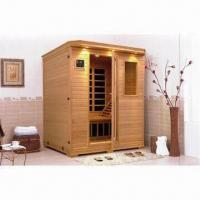 China Carbon Fiber Heater Sauna with Japan Technology, Tempered Glasss, Stereo and Canadian Hemlock Wood on sale