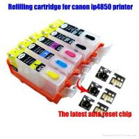 Quality Refillable ink cartridge with auto reset chip for the latest canon printer wholesale