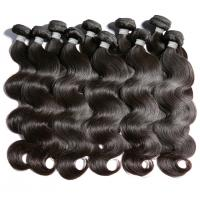 China 100% Pure 1B Black Color Brazilian Human Hair Bundles Wet And Wavy Hair Extensions on sale