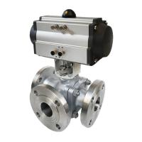 China CE/ISO9001 approved ss stainless steel flange ball valve pneumatic actuator on sale
