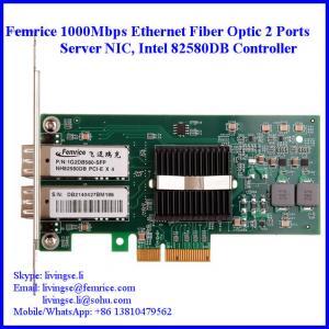 Quality 1000Mbps Gigabit Ethernet Dual Port Fiber Optical Server Network Card 1G2DB580-SFP wholesale
