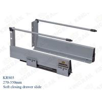 Quality White Color Metal Double Wall Drawer slide Hardware KRS03 wholesale