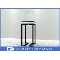 Cheap Simple Glass Jewellery Shop Cabinets / Jewelry Display Cabinets Cream Coating for sale