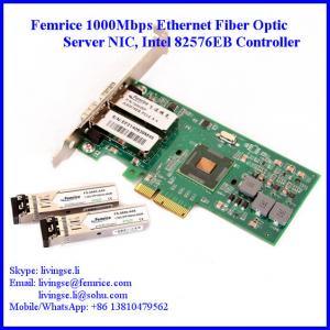 Quality 1000Mbps Ethernet Dual Port Server Network Card, SFP*2 Slot, PCI Express x4, LC Fiber Femrice 10002EF wholesale