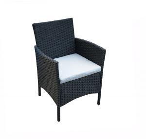 Quality SGS Approval Rattan Bistro Chair , Rattan Garden Armchair L52cm wholesale