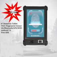Quality HFSecurity FP08 82+16G NFC  Black Cheap Price Of The Biometric Tablet  Fingerprint Handheld Terminal With TCS1 Sensor wholesale