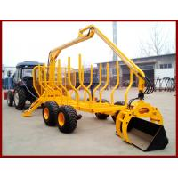 Quality Log Trailer With Crane Forestry Machine, ATV Crane, Log Loading Trader with Grab wholesale
