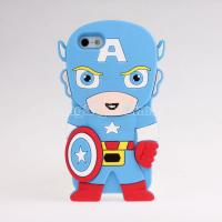 China 3D Captain America Silicone Rubber Cover Case For iPhone5 on sale