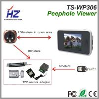 Quality 3.5''touch screen 2.4GHz Automatically taking photos ir night vision wireless digital peephole door camera wholesale