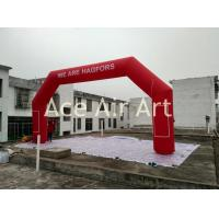 Quality cheap  8mL x4m H classical  red inflatable arch for Sweden come with TEXT and Air blower wholesale