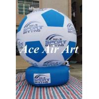 Quality custom advertising inflatable soccer ball inflatable football model for sport event wholesale