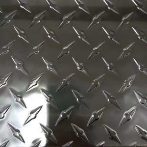 Quality Aluminium Diamond Checker Plate / Anti Slip Checker Plate Customized Length wholesale