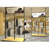 Quality Adjustable Metal Retail Clothing Racks Black Color For Retail Shop Display wholesale