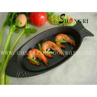 Quality cast iron fish shape griddle&grill pan wholesale