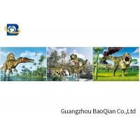 China Customized Dinosaur 3D Lenticular Printing With Framed , 3D Lenticular Flip Picture on sale