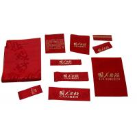 China High quality custom  size Red Clothing Woven Labels  sew on for Men\s Suit on sale
