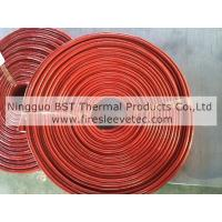 Cheap oil tube fire protection silicone fiberglass firesleeve for thermal resistant for sale