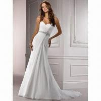 Quality Sweetheart Elegant Chiffon Bridal Gown, Brand New, High Quality Strapless wholesale