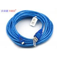 Quality Blue Transparent Micro USB Data Cable Micro 5 Pin USB 156g Net Weight wholesale