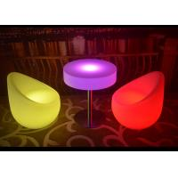 No Folded LED Light Furniture Light Up Chairs And Tables For Decoration
